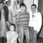 Ein Foto aus den Anfangsjahren der Band mit (von links) Barny Murphy, Michael Busse, Günther Sigl und Franz Trojan.