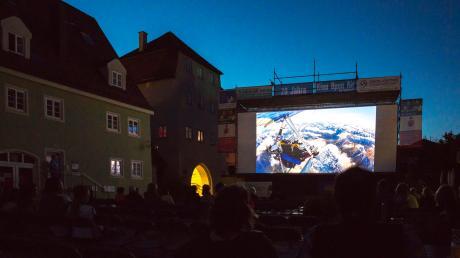 Im Stadtgarten in Bopfingen werden Filme gezeigt.