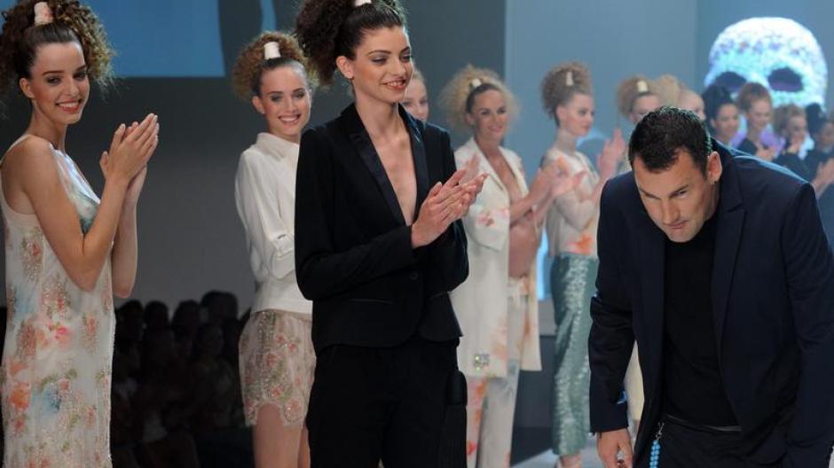 buy popular 90208 9bf9a Mode: Fashion Week-Finale: Pastelltöne und ein schwangeres ...