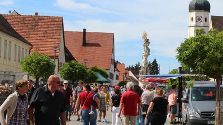 Tolles Spätsommerwetter lockte Besucherscharen nach Wallersteim zum verkaufsoffenen Herbstmarkt.