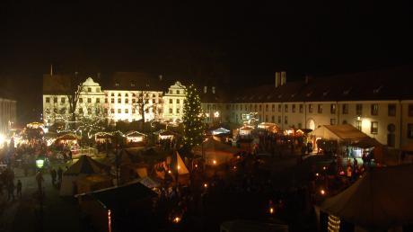 Das Kloster bietet die imposante Kulissen für den Engerlmarkt.
