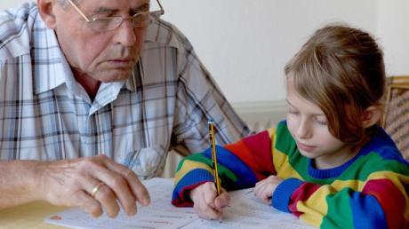 Hausaufgabenhilfe:Für viele Großeltern - und ihre Enkel - sind solche Situationen Alltag.