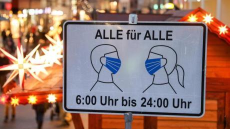 Maske auf: Die AHACL-Regeln sind auch in der Adventszeit allgegenwärtig.