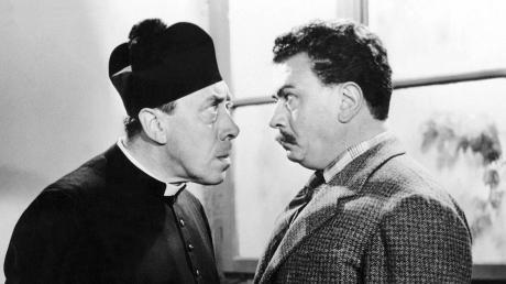 """Fernandel und Gino Cervi in """"Don Camillo und Peppone""""."""