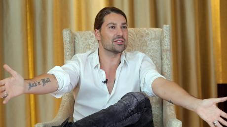 Star-Geiger David Garrett Ende August beim Interview in Berlin.