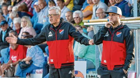 Esad Kahric (links) wechselt zum FC Memmingen und macht beim TSV Kottern den Chefposten für seinen bisherigen Co-Trainer Matthias Günes frei.