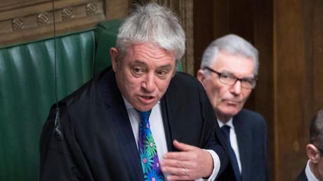 Parlamentspräsident John Bercow erlaubt keine weitere Abstimmung.