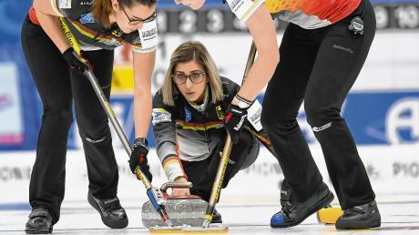 Skip Daniel Jentsch und ihr Team. Curling-WM 2020 der Frauen: Termine, Zeitplan und Live-TV.