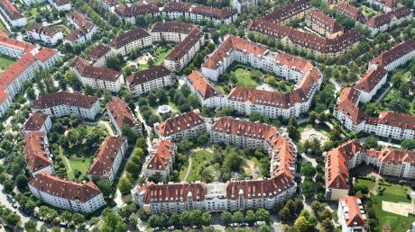 Im Univiertel gibt es viel Wohnbebauung, wie man auf diesem Luftbild sieht. Die Anwohner klagen über zu wenige Parkplätze.
