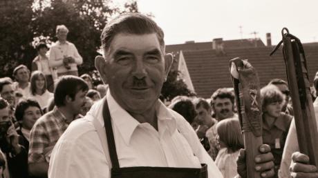 Friedrich Geiß als Altbürgermeister im Jahr 1978 beim Heroldinger Zehentstadelfest.
