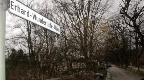 Erhard Wunderlich ist der jüngste Namenspate für eine Augsburger Straße. Bislang war die Allee auf dem Weg zur Sporthalle namenlos.