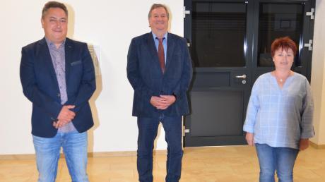 Drei neue Gesichter stehen jetzt in Unterroth an der Spitze der Gemeindeverwaltung. Von links: Zweiter Bürgermeister Michael Kretzschmar, Erster Bürgermeister Norbert Poppele und Dritte Bürgermeisterin Anita Olbrich.