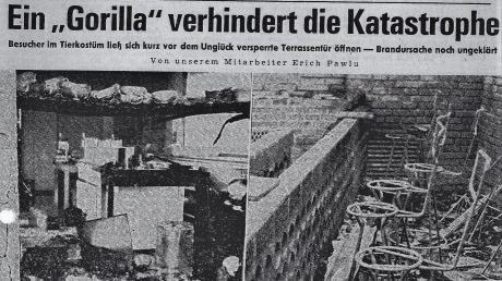 Die Bilder der völlig zerstörten Küche und der Bar in der Donau-Zeitung einen Tag nach dem Großbrand machten das Ausmaß der Zerstörung deutlich.