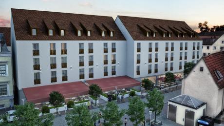 20 Monate Bauzeit sind eingeplant, wenn es Mitte 2022 auf dem Lamm-Areal losgeht. Spätestens zu Jahresbeginn 2024 soll das neue Angebot mit Gastronomie, Hotel und Wohnungen zur Verfügung stehen.