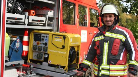 Heinrich Baab ist seit 40 Jahren bei der Feuerwehr Apfeldorf und war auch lange Kommandant