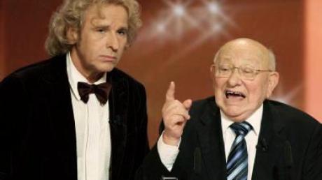 Reich-Ranicki diskutiert im ZDF mit Gottschalk