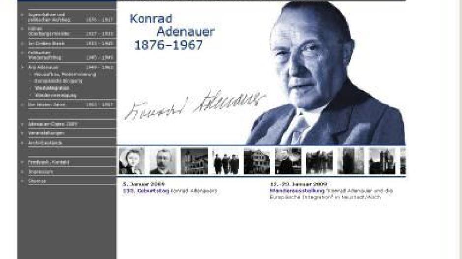 Alles über Den Ersten Bundeskanzler Adenauer Online Leben