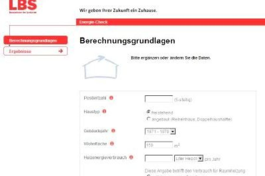 Energie Check Für Das Haus Im Internet Bauen Wohnen