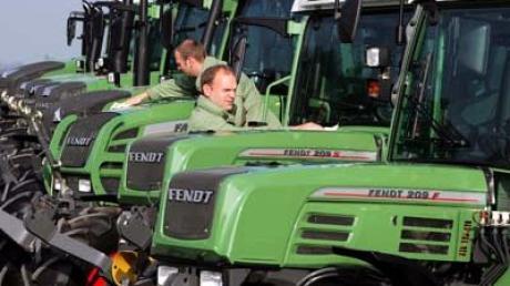 Wer kennt sie nicht: Die grünen Traktoren aus dem Hause Fendt.