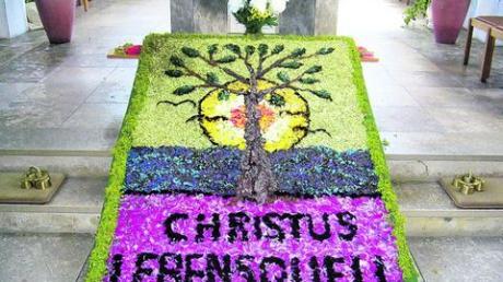 Prächtige Blumenteppiche gehören normalerweise zum Fronleichnamsfest dazu. In Altenstadt will man trotz allem nicht darauf verzichten: Es gibt eine besondere Aktion.