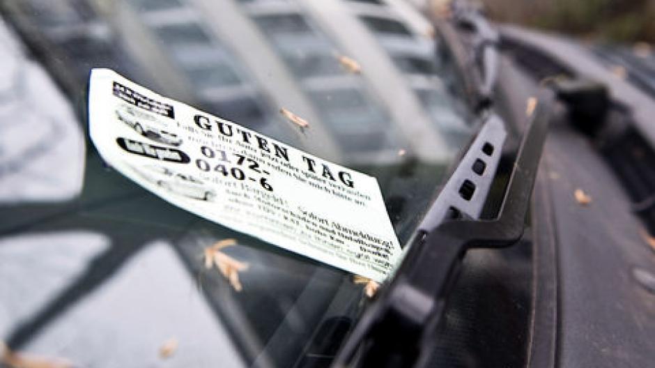 Verordnung Visitenkarten Als Werbung Am Auto Verboten