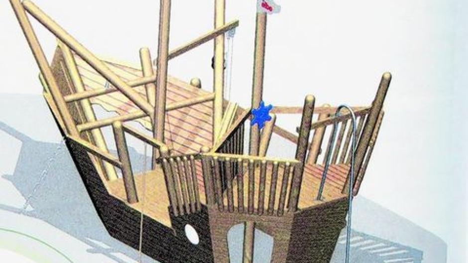 Klettergerüst Schiff : Todtenweis sand: ein schiff wird kommen auf den spielplatz