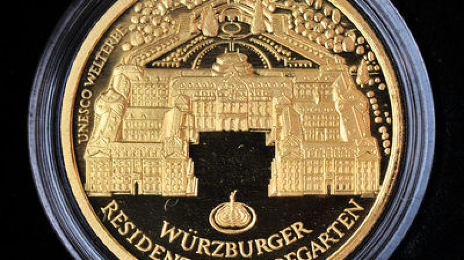 Neuerscheinung Würzburger Residenz Ziert 100 Euro Münze