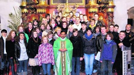 Die Landjugend Mertingen gestaltete den Jugendgottesdienst.