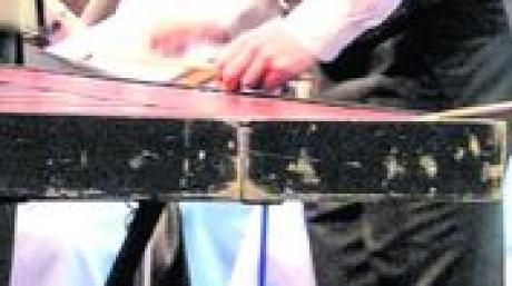 """Martin Luderschmid bei """"Erinnerungen an Zirkus Renz"""" als Solist am Xylophon."""