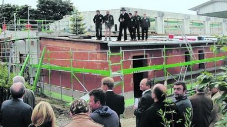 Die Erweiterung der Mittelschule - das Foto zeigt den Hebauf - ist eines der großen Projekte in Wemding. Archivfoto: Widemann