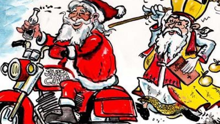 Mindelheim Streitgespräch Zwischen St Nikolaus Und Weihnachtsmann