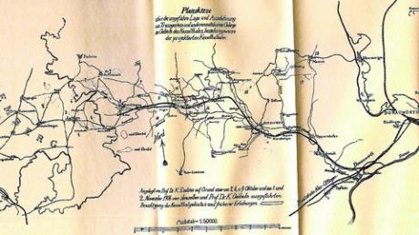 Plan: Eisenbahn durchs Kesseltal