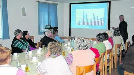 Bürgermeister Albert Lohner erläuterte auch die Haushaltsentwicklung. Foto: bih