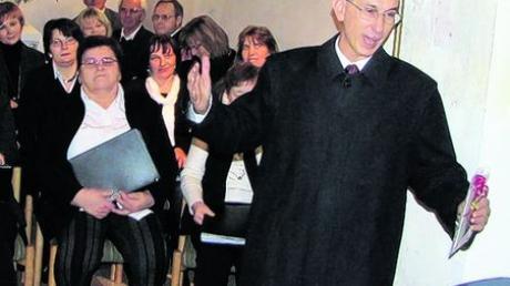 Der Gründer des Chors in Dürrenzimmern, Pfarrer Johannes Wagner, war Ehrengast bei der Jubiläumsfeier.