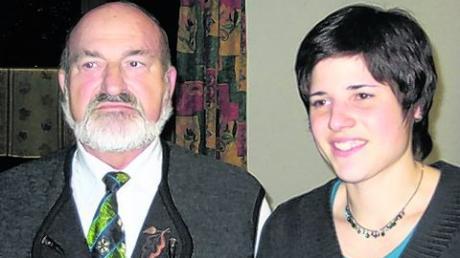 Ehrung zum Jahresabschluss in Obergriesbach: Wolfgang Reinhardt und Stephanie Reinhardt. Foto: Eibl