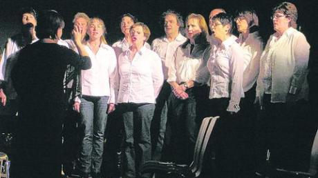 """Beim Adventssingen in der Syrgensteiner Bachtalhalle war neben mehreren Gruppen auch das Vokalensemble """"Venerdi"""" mit von der Partie. Foto: Dittrich"""