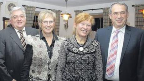 Die Bürgermeister der VG Dirlewang blickten zufrieden auf das abgelaufene Jahr zurück. Unser Bild zeigt (v. li.): Alois Mayer (Dirlewang), Marlene Preißinger (Unteregg), Karin Schmalholz (Apfeltrach) und Peter Schropp (Stetten).
