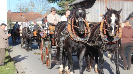Mit 55 großen und kleinen sattelfesten Reitern, zwei festlich geschmückten Wägen und sechs Gespannen geriet der Leonhardiritt zu einem prächtigen Schauspiel. Zugleich ist es ein Zeichen echter Volksfrömmigkeit.