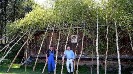 Franz Rimmel (rechts) und Wolfgang Aufmuth (links) hatten die außergewöhnliche Idee zu der Aktion.