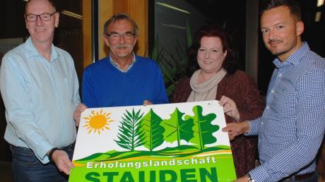 Sie stehen in den kommenden drei Jahren an der Spitze der Regionalentwicklung Stauden (von links): Josef Böck, Peter Ziegelmeier, Claudia Schuster und Peter Wachler.