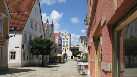Die Kornstraße in Mindelheim.