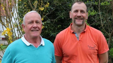 Der Gartenbauverein ist Familiensache: Johann Walter (links) hat den Vorsitz kürzlich an seinen Neffen Christian Walter abgegeben.