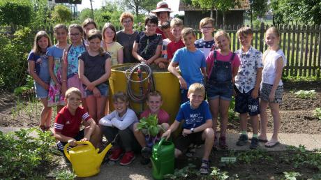 Der Schulgarten in Pfaffenhausen ist ein Gemeinschaftsprojekt von Schülern, Eltern und Lehrern.