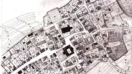 Dieser exakte Plan Pfaffenhausens entstand im Rahmen der ersten Bayerischen Landesvermessung anno 1819.