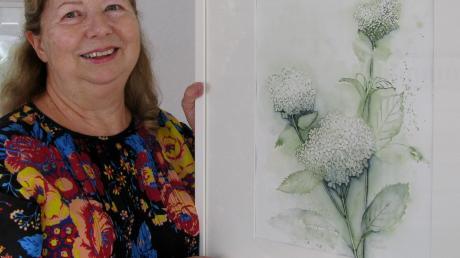 Filigrane Aquarelle stellt Barbara Holdenried im Salon des Mindelheimer Kunstvereins aus.