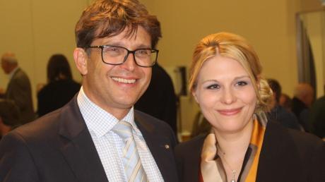 Zur Nominierungsversammlung in Mindelheim brachte CSU-Landratskandidat Rainer Schaal seine Frau Alexandra mit.