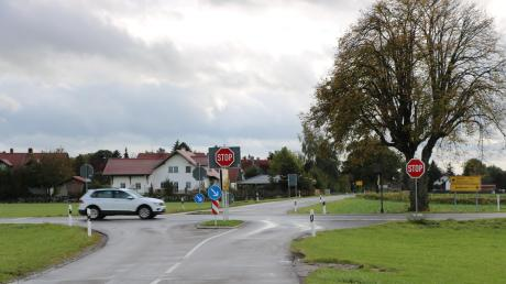 Die Kreuzung an der MN 26 bei Stockheim.