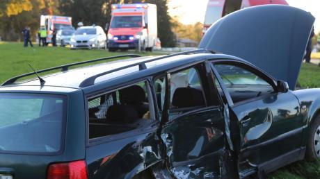 Unfall auf der Kreisstraße zwischen Türkheim und Amberg.