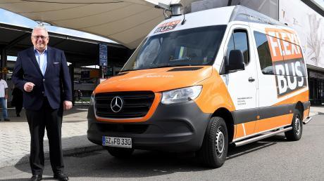 Josef Brandner ist der Erfinder des Flexibus-Systems. In Günzburg, Mindelheim, Krumbach oder Thannhausen rollen die Fahrzeuge bereits. Im nächsten Jahr wird es den Flexibus auch in Bad Wörishofen geben.