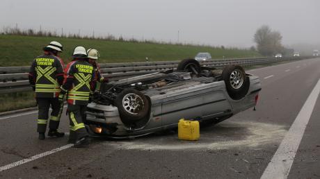 Auf der Autobahn hat es einen Unfall gegeben - und in der Rettungsgasse gleich einen weiteren.